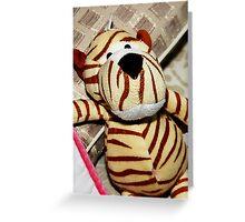 My Niece's Tiger Stuff toy Greeting Card