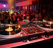 DJ's place in a crowded nightclub by hurricanehank