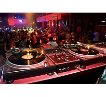 DJ's place in a crowded nightclub Photographic Print
