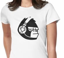 Grumpy Gorilla with Headphones Womens Fitted T-Shirt