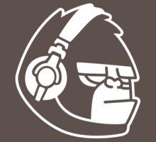 Grumpy Gorilla with Headphones T-Shirt