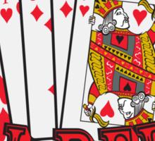 Oceans' 11 all red winning hand.  Sticker