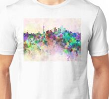 Shanghai skyline in watercolor background Unisex T-Shirt
