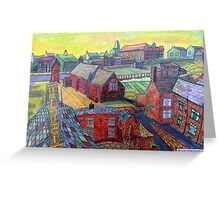 376 - RHOS SEEN FROM STIWT ROOF - DAVE EDWARDS - COLOURED PENCILS - 2013 Greeting Card
