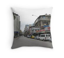 Streetscape on sunday,Adana. Throw Pillow