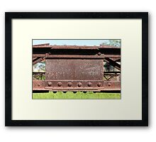 Old Steel Construction Framed Print
