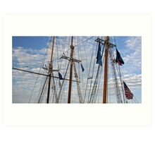Tall Ships Flags Art Print