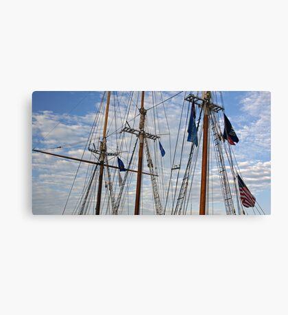 Tall Ships Flags Canvas Print