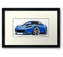 Lotus Evora Blue Framed Print