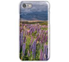 A Church in a Field of Lupins iPhone Case/Skin