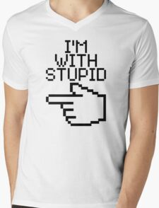 I'm With Stupid Mens V-Neck T-Shirt