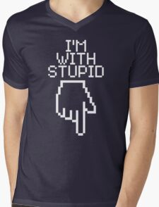 I'm With Stupid Mens V-Neck T-Shirt