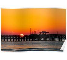 Springmaid Pier Sunrise in Myrtle Beach SC  Poster