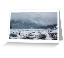 snow covered pass~ Greeting Card