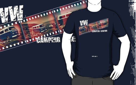 VW Camper Legend - Retro Film Strip T-Shirt by PShellard