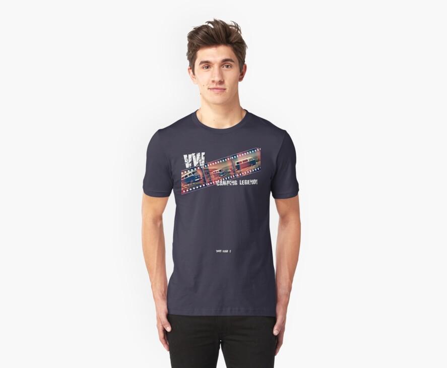 VW Camper Legend - Retro Film Strip T-Shirt by Paul Shellard