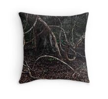 Tree With Tentacles Throw Pillow