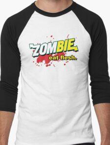 Eat Flesh! Men's Baseball ¾ T-Shirt