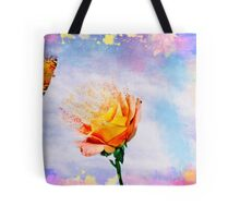 Rose And A Butterfly Gone With The Wind Tote Bag