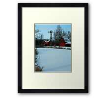 A peaceful winter view..:) Framed Print