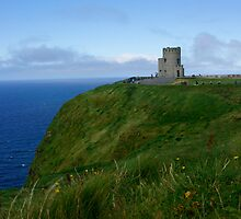 Cliff Of Moher Castle Tower by Tina Hailey