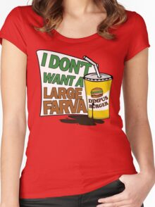 Large Farva! Women's Fitted Scoop T-Shirt