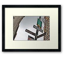 Broadway/Walker St Sign Framed Print