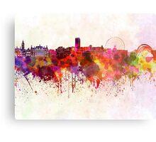 Sheffield skyline in watercolor background Metal Print