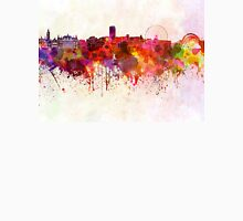 Sheffield skyline in watercolor background Unisex T-Shirt