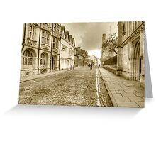 Merton Street Oxford Greeting Card