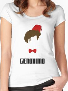 Doctor Who? - Geronimo Women's Fitted Scoop T-Shirt