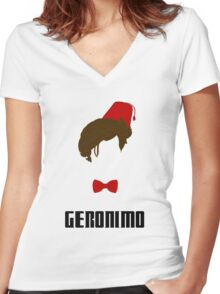 Doctor Who? - Geronimo Women's Fitted V-Neck T-Shirt