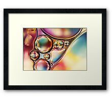 Bright & Bold Bubble Abstract Framed Print