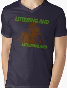 Littering And! Mens V-Neck T-Shirt