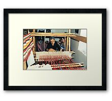 Penelope At Her Loom Framed Print