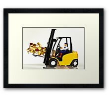 Fork lift and drugs Framed Print