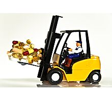 Fork lift and drugs Photographic Print