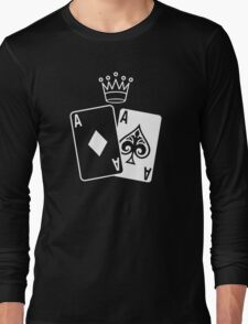 Poker Cards with Crown Long Sleeve T-Shirt