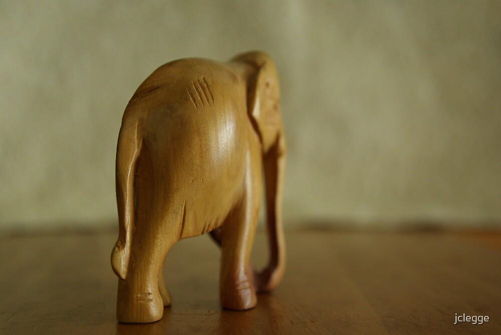 Wooden elephant walk by jclegge