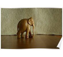 Wooden elephant walk 2 Poster