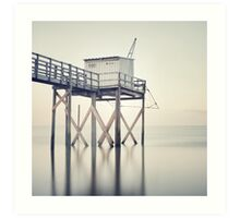 Fishing Hut Art Print