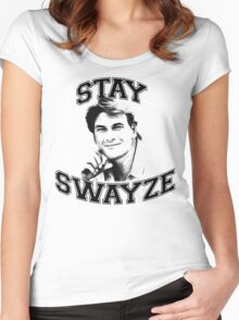 Stay Swayze! Women's Fitted Scoop T-Shirt