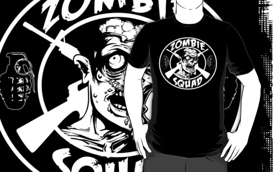 Zombie Squad! (White) by ABC Tee!