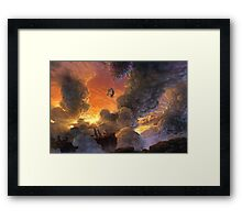 Onward and Upward! Framed Print