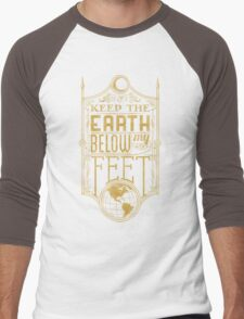 Mumford Typography (earth)(gold) Men's Baseball ¾ T-Shirt