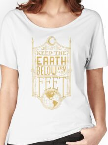 Mumford Typography (earth)(gold) Women's Relaxed Fit T-Shirt