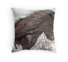 Icelandic horse. Throw Pillow