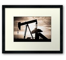 Oil Well Pump Framed Print