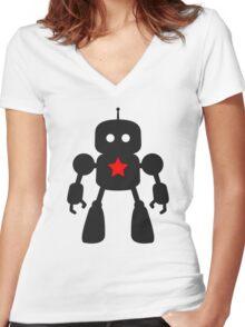 I Robot Women's Fitted V-Neck T-Shirt