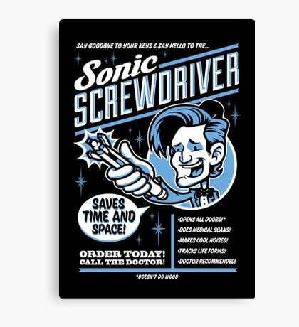 Sonic Screwdriver Ad Canvas Print